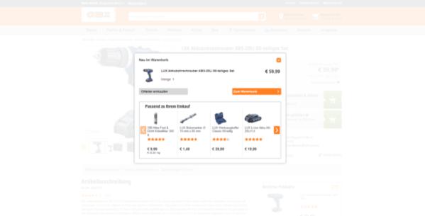 Schlage im Checkout-Prozess zusätzlich passende Produkte dem Kunden vor.